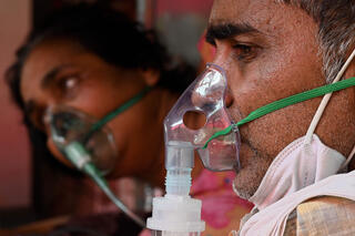 COVID-19 patients receiving oxygen in India