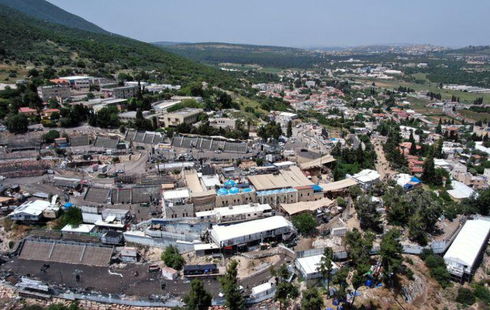 A view of Mount Meron where fatalities were reported among the thousands of ultra-Orthodox Jews who gathered at the tomb of a 2nd-century sage for annual commemorations that include all-night prayer and dance, Israel April 30, 2021