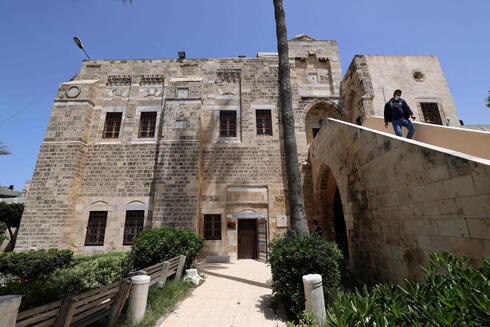 Stairs leading to Qasr al-Basha in Gaza City where Napoleon slept during his his campaign in Egypt and Palestine