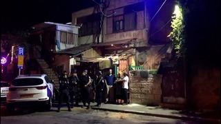 Police forces at the Jerusalem neighborhood of Sheik Jarrah where eviction orders were issued for Palestinians in favor of right wing group