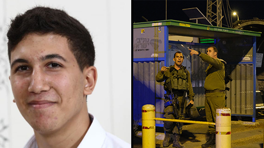 Yehuda Guetta, left, and the scene of the deadly drive-by shooting in May