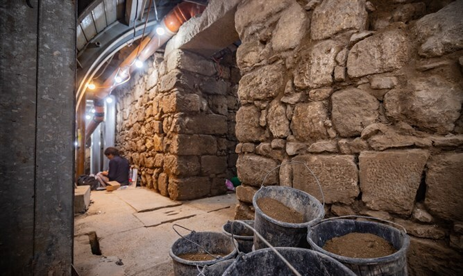 Archeological digs in the City of David compound in Jerusalem