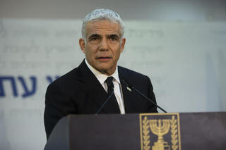 Yair Lapid speaking a day after he was given the mandate to form the next government