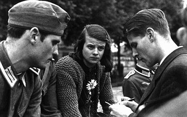 Members of the covert 'White Rose' resistance group against Hitler, including Hans Scholl (left) and Sophie Scholl, in Munich, 1942