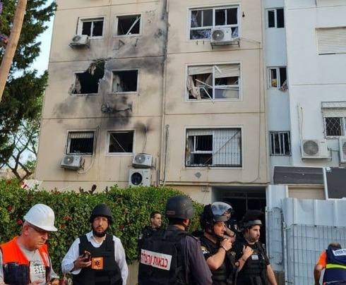 The Ashkelon apartment building hit by Gaza rocket on Tuesday morning