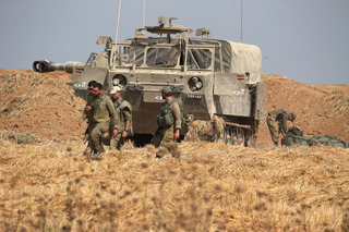IDF troops deployed close to the Gaza border Tuesday