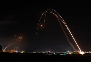 Rocket launches from inside the Gaza Strip into Israel