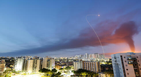 Iron Dome intercepts rockets launched from Gaza over Ashkelon, May 12, 2021