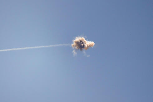 Iron Dome intercepts a rocket fired from Gaza over the southern city of Sderot, May 13, 2021