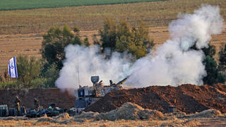 IDF forces fire artillery shells into the Gaza Strip on Thursday