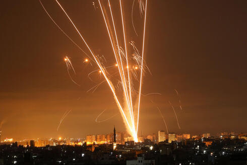 Iron Dome intercepts rockets fired into Israel from the Gaza Strip