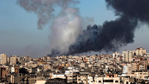 Smoke bellows in Gaza after an IAF strike on Saturday