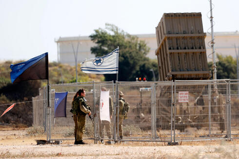 An Iron Dome air defense battery in southern Israel
