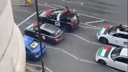 The convoy of cars in North London whose occupants were calling for the rape of Jewish women, May 16, 2021