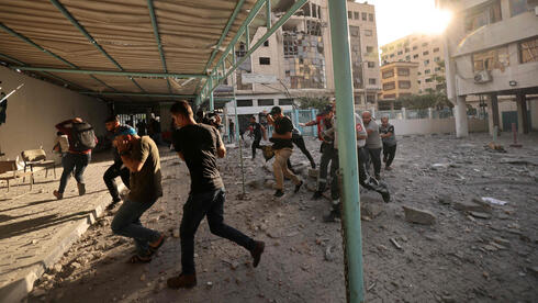 Gaza residents run for cover as Israeli jets strike on Saturday