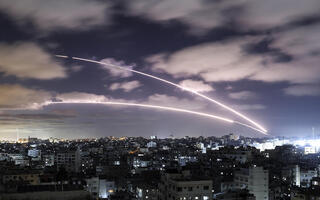 Iron Dome intercepts rocket fire from Gaza during the recent round of fighting