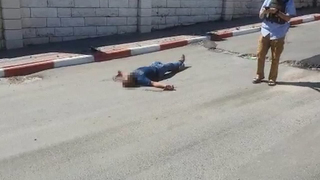 The body of the attacker in the West Bank city of Hebron