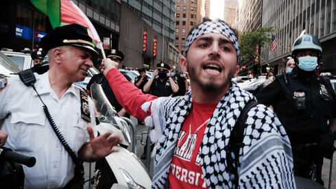 Pro Palestinian demonstration in New York during latest Israel-Gaza fighting