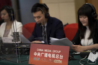 China English language CCTV broadcast earlier this month