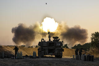 IDF tank on Gaza border fires shells on terrorist targets within Hamas-controlled enclave
