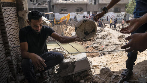 The al Masri home in Gaza after its was destroyed during Israeli strikes on the strip in the recent outbreak of fighting earlier this month