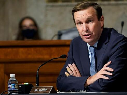 Sen. Chris Murphy, D-Conn., speaks at a Senate Foreign Relations Committee hearing on Capitol Hill, Sept. 2020