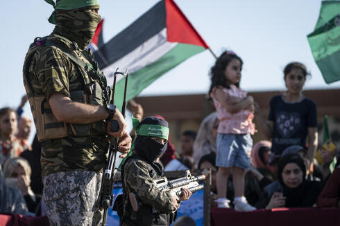 Children at a rally days after a cease-fire was reached in an 11-day war between Gaza's Hamas rulers and Israel