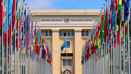 The Palace of Nations in Geneva that is home to the UN Human Rights Council