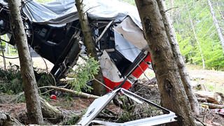 The scene of the deadly cable car crash in northern Italy last month