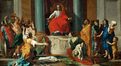 The Judgment of Solomon by Nicolas Poussin, 1649