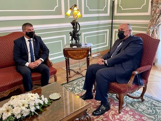 Foreign Minister Gabi Ashkenazi meeting with Egyptian counterpart Sameh Shukry on Sunday