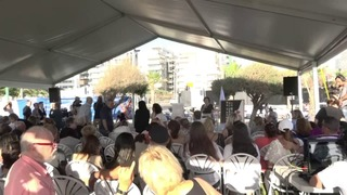Tuesday memorial event marking the 20th anniversary of the deadly terror attack at the Dolphinarium discotheque