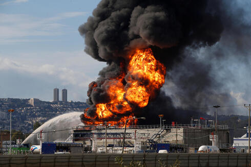 fire erupted in a fuel tank at Oil Refineries Ltd in the Israeli northern city of Haifa in December