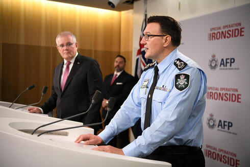 Australian Federal Police Commissioner Reece Kershaw on press conference on crime busts