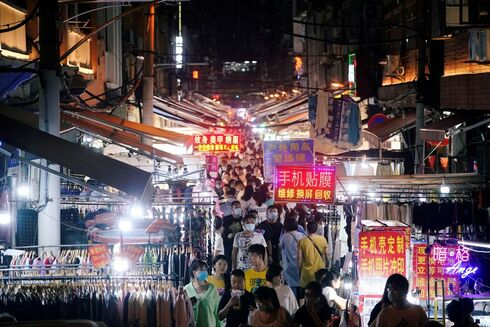 A market street in Wuhan, China in September 2020