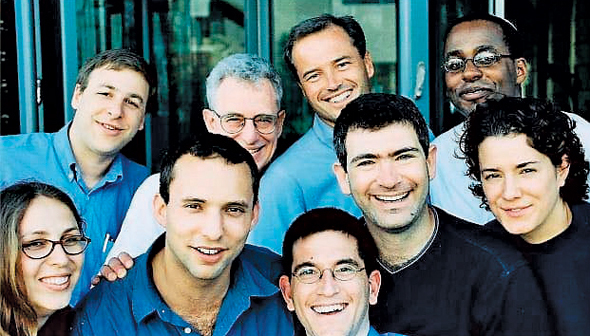 Naftali Bennett (bottom row, second from the left) with the Cyota team Photo