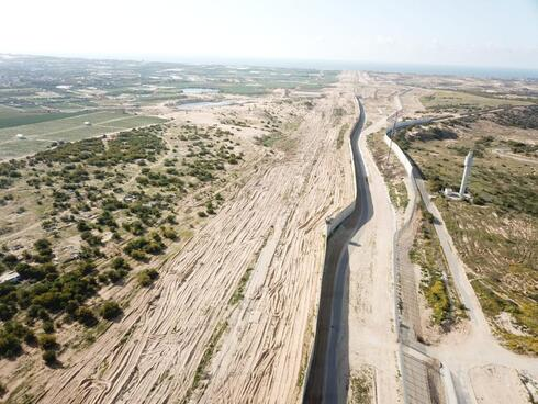 The reinforced border wall with Gaza