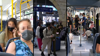 Israelis around the country return to wearing masks after the latest outbreak of COVID-19