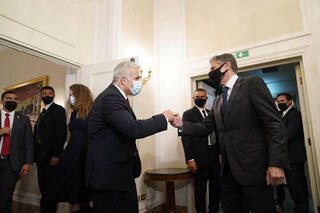 Foreign Minister Yair Lapid meeting with U.S. Secretary of State Antony Blinken in Rome in June