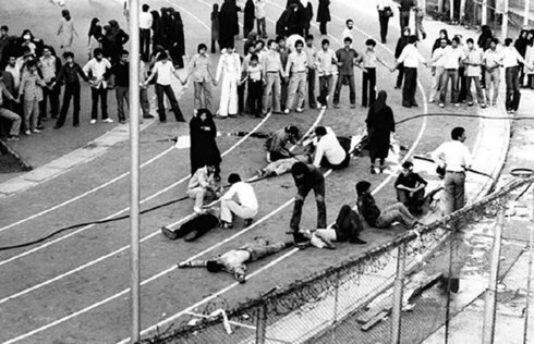 Iranian civilians during clashes with security forces in 1988
