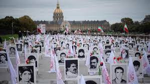 A ceremony commemorating Iranians executed in 1988, held in France in 2019