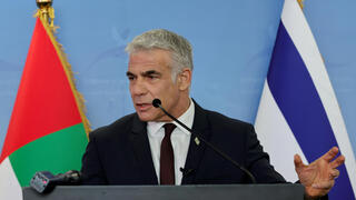 Yair Lapid during visit to the UAE