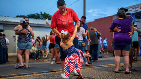 People parting during the 4th of July weekend celebrations in Erath, Louisiana, U.S
