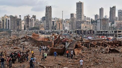 The immediate aftermath of the devastating Aug. 2020 explosion at Beirut port