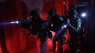 Border Police special forces unit in the northern West Bank city of Jenin during the Sunday raid