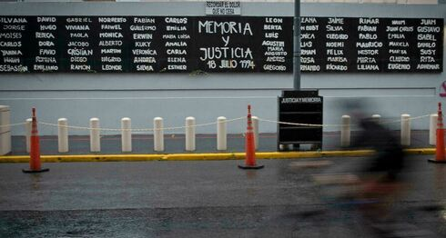 A mural in the Buenos Aires Airport commemorating the victims of the The 1994 bombing