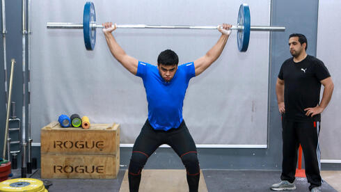 Gaza weight-lifter Mohammad Hamada who is the first Palestinian to compete in the game at the Olympics when it kicks off in Tokyo