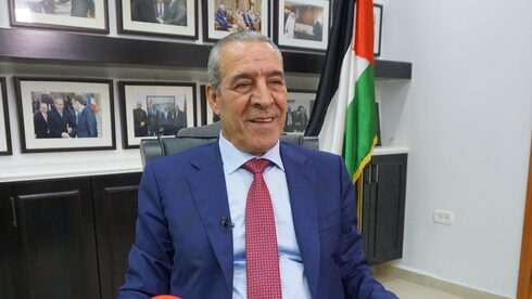 Palestinian Authority Civil Affairs Minister Hussein Al-Sheikh in his office in Ramallah