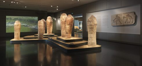 Entrance gallery to the Samuel and Saidye Bronfman Archaeology Wing at the Israel Museum in Jerusalem