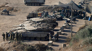 IDF tanks in the Golan Heights